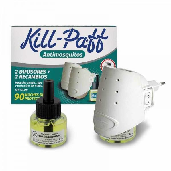 Kill-paff antimosquitos 2 difusores + 2  recambios
