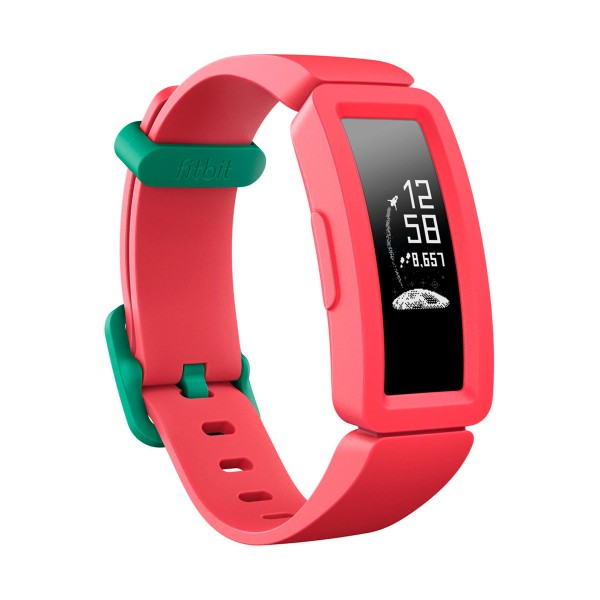 Fitbit fb414bkpk ace2 sandía pulsera de actividad infantil pantalla oled con cierres turquesa