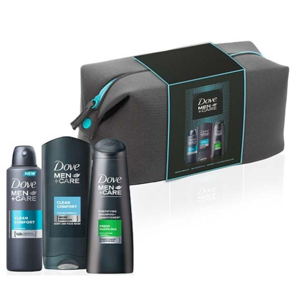 Dove set Men +Care Gel de Ducha 400 ml + Champú & Acondicionador 250 ml + Desodorante Spray 200 ml + Neceser