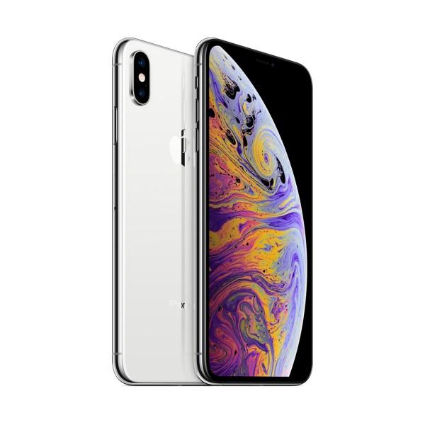 """Apple iphone xs max reacondicionado (cpo) plata / 4+256gb / 6.5"""" oled / esim"""