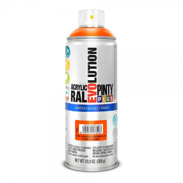 Pintura en spray pintyplus evolution water-based 520cc ral 2004 naranja puro