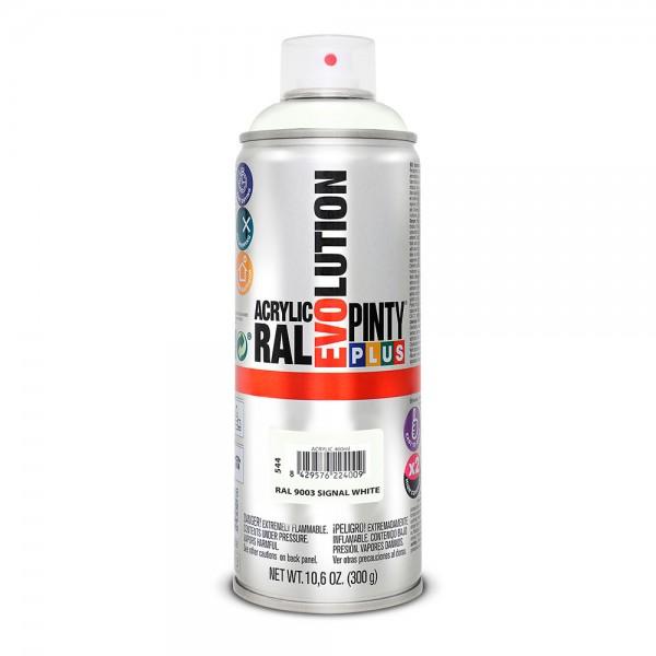 Pintura en spray pintyplus evolution 520cc ral 9003 blanco señales