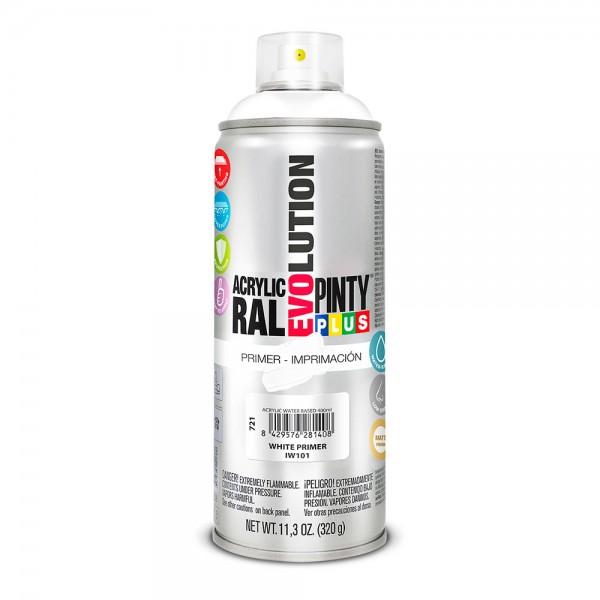 Pintura en spray pintyplus evolution water-based  520cc imprimación blanco iw101